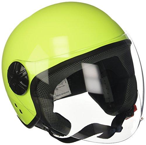 LAMPA 90740 Casco Moto Demi-Jet, Giallo Fluo, Taglia L