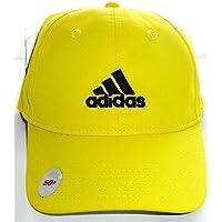 Adidas Cap Golf Tennis Schirmmütze gelb verstellbar atmungsaktiv UV Schutz