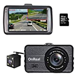 "Best Dash Cameras - OnReal Dual Dash Cam 3"" Full HD Front Review"