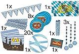 TK Gruppe Timo Klingler XXL Oktoberfestdeko Bayrische Tischdeko Wiesen Wiesn Deko Dekoration Oktoberfest Cannstatter Wasen mit über 50 Teilen