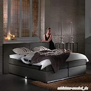 boxspringbett aoxly s inkl motor 180x200 grau amazon. Black Bedroom Furniture Sets. Home Design Ideas