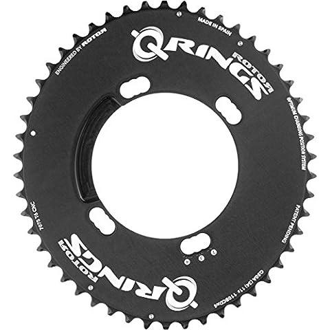 Rotor Q-Ring Aero Kettenblatt außen 110mm Shimano 4-Loch schwarz Ausführung 52 Zähne 2017 Kettenblätter