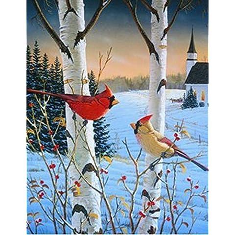 Inverno Cardinale giardino Bandiera Betulla Sam (Cardinale Giardino)