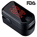 Pulse Oximeter, Professional Digital Finger Oxymeter, Blood Oxygen Saturation Level and Heart Rate