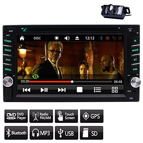 Stabil Windows CE 8.0 UI-System GPS NAVI Doppel-DIN-Car DVD-Player in Schlag-Auto-Stereoanlage für FM / AM-Radioempfänger kapazitiven Touchscreen Lenkrad-Steuerung GPS-Antenne + Free Backup-Kamer