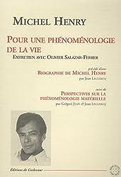 Pour une phénoménologie de la vie