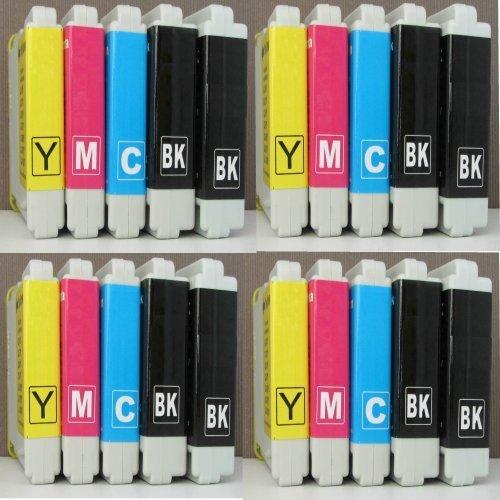 20 cartuchos de tinta de impresora con chip integrado compatibles con Brother LC1000 LC970 LC1000BK LC1000Y LC1000C LC1000M LC970BK LC970Y LC970C LC970M