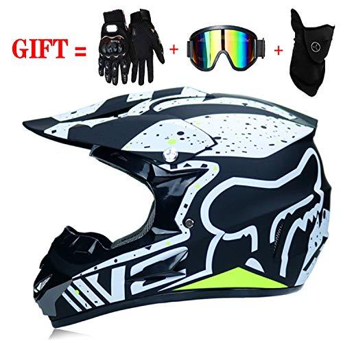 M-GLT Motocross Motorradhelm D.O.T Standard Kinder Quad Bike ATV Go-Kart-Helm, Geeignet für 3 bis 12 Jahre,1,S(52~54) (Kinder-go-kart-helm)