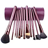 MERRYHE Womens MakeUp Pinsel Set 13pcs Foundation Powder Lidschatten Augen Gesicht Make-up Tool Pinsel Kit Mit Cup Holder Case Für Damen Mädchen Geschenke,Purple