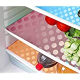 Khushi Creation Refrigerator Drawer Mats/Fridge Mats/Multi Purpose Mats Set Of 6 Pcs In Coin Design (Multi) (FRDM05)