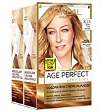 L'Oréal Paris - Excellence Age Perfect - Coloration Permanente Cheveux Matures & Très Blancs - Nuance 8,34 Blond Clair Vénitien - Lot de 2