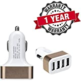 4-Port USB Smart Car Charger Compatible With Xiaomi, Lenovo, Apple, Samsung, Sony, Oppo, Gionee, Vivo Smartphones -by Starford