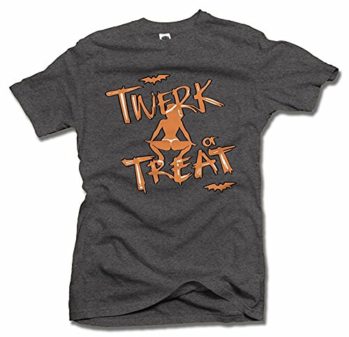 TWERK OR TREAT FUNNY HALLOWEEN T-SHIRT Men's Tee (6.1oz)
