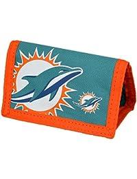 NFL Miami Dolphins - Cartera/Billetera oficial Nylon Modelo Big Logo