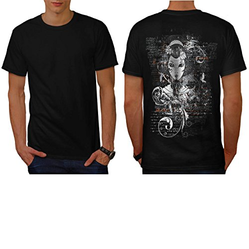 gothic-asian-lady-geisha-world-men-new-black-m-t-shirt-back-wellcoda
