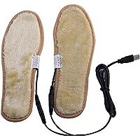 Uniqstore Calienta zapatos plantillas,Cargadores de carga con calefacción eléctrica de las plantillas del cojín del USB Cargadores calentadores de la bocina Mantenga los pies calientes