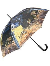 "VON LILIENFELD Paraguas automático con motivo de Vincent van Gogh: ""Café nocturno"""