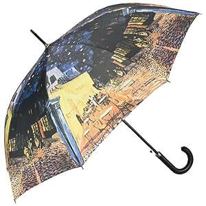VON LILIENFELD Parapluie automatique à motif d'art Vincent van Gogh : Café de nuit