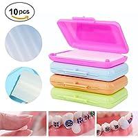 Dental Brace Wax,Anself Cera de Alivio,Orthodontic Dental Brace Wax, Protección y Ortodoncia Dental de Sabor (incluye 10 cajas)