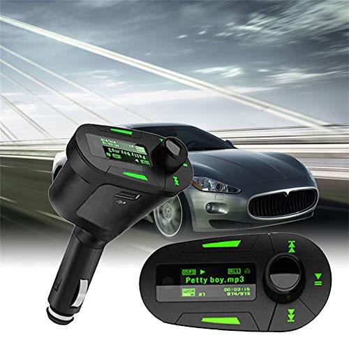 Jiqiaoda2 Car Charger Wireless Car Music MP3 Player FM Transmitter Remote Control USB Modulator Kit-Green Fm Transmitter Remote