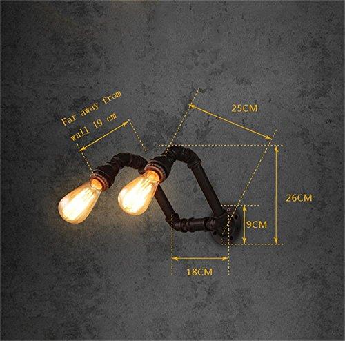 lampe murale Lampe de Poche intérieure à économie d'énergie - Américaine rétro Bar allée Continental Magasin de vêtements industriels Lampe de Mur de Tuyau Creative escalier Balcon - 1 lumière