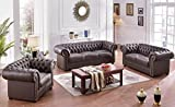 Chesterfield Ledersofa Ledercouch Chesterfield-3+2+1-377