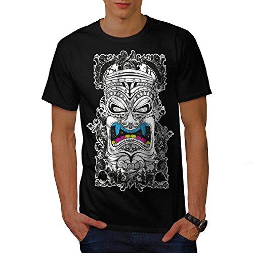 Maori Krieger Kopf Neu Guinea Herren M T-shirt | (Kostüme Maori)