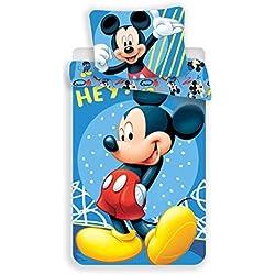 Disney Mickey - Juego de Cama - Funda nórdica de algodón