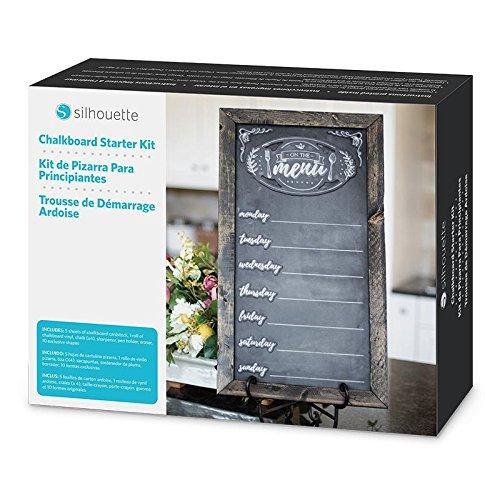 Silhouette Kше - Chalk tableau à craie et accessoires Noir - Tableaux à craie et accessoires (Noir, Boîte)