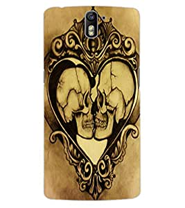 ColourCraft Funny Skulls Design Back Case Cover for OnePlus One