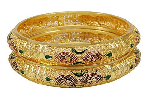 Banithani Vergoldetes Indische Hochzeit Partei Zu Tragen Churi Armreif Gesetzt Traditionellen Schmuck 2 * 10
