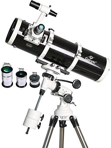 Cheapest Gskyer Telescope, AstroMaster 130EQ Professional Reflector Telescope, German Technology Scope