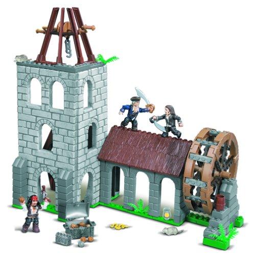 Mega Bloks 1027-Pirates of the Caribbean Water Wheel Duel