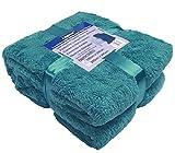 A-Express Teal blau 150cm x 200cm Warme Weich groß Teddy