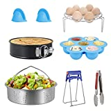 Steamer Rack Electric Pressure Cooker Accessories Set of 7-Piece for Instant Pot, Pressure