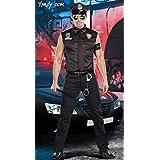 LAVINI COSPLAY-De Halloween Cosplay masculinos extranjera instructores de policía en uniforme de policía cos ropa Cosplay Europa y América los hombres
