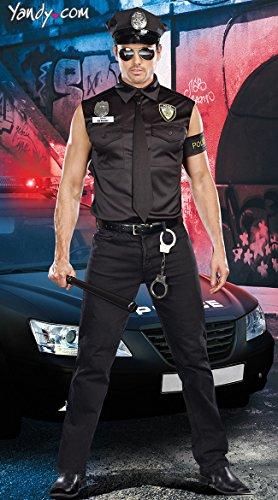 DLucc Halloween-Cosplay ausländischen männlichen Polizeiuniform Polizeiausbilder in Europa und Amerika Kleidung der Männer Cosplay cos