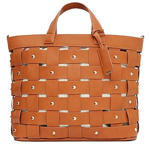 MANGO , Damen Tote-Tasche schwarz Schwarz / Braun, braun - braun - Größe: One Size (Wheeled Backpack Kipling)