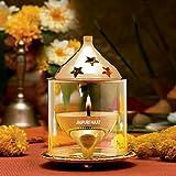 Jaipuri haat Akhand Diya (Medium, Brass)