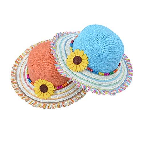 f1224716b594e 19% OFF on Generic Yellow   Spring New Baby Girl Hat Summer Beach Straw  Girls Visors Cute Bohemia Girl Cap Sun Hat CM-001 on Amazon