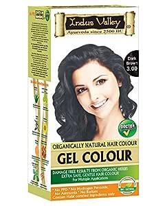 Indus Valley Damage Free Gel Hair Colour, Dark Brown 3.0