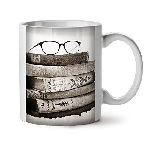 Wellcoda Alt Sammlung Bücher Keramiktasse, Retro - 11 oz Tasse - Großer, Easy-Grip-Griff, Zwei-seitiger Druck, Ideal für Kaffee- und Teetrinker