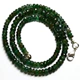 Earth Gems Park Super Fine Quality Gems Jewelry 1 Strand Natural 16.5 Inches Stands AAAA Gems Quality 100% Natural Emerald Transparent Faceted Roundels Beads Necklace 4 TO 6.5 MM Code:- BF-28643
