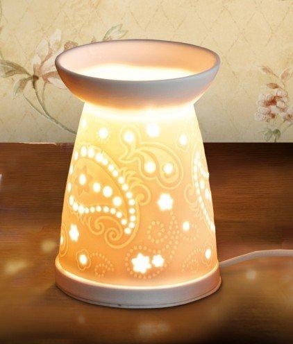 Heart & Home PAISLEY Elektrische Wax Melt Wärmer keine Notwendigkeit für Teelichter (Wärmer Duftlampe)