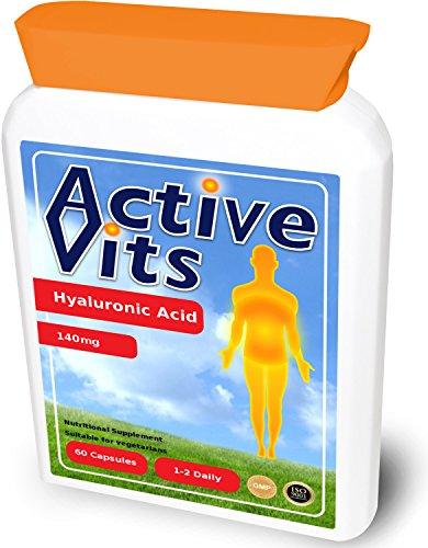 ActiveVits Hyaluronsäure 140mg 60 Kapseln Haut & Knochen NEU