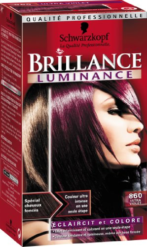 schwarzkopf brillance coloration permanente luminance ultra violet 860 - Coloration Schwarzkopf
