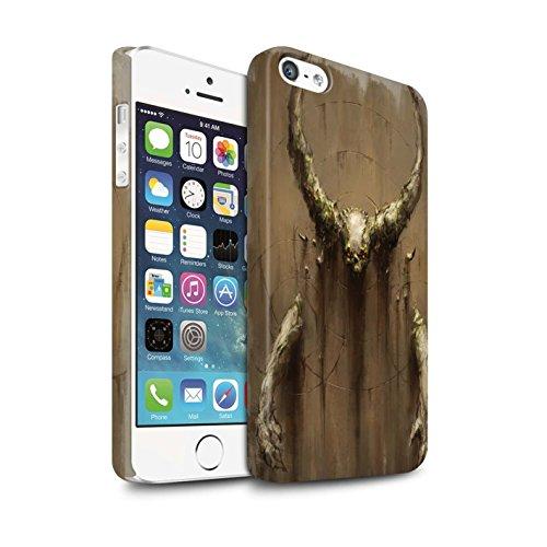 Offiziell Chris Cold Hülle / Matte Snap-On Case für Apple iPhone SE / Pack 10pcs Muster / Dunkle Kunst Dämon Kollektion Hörner