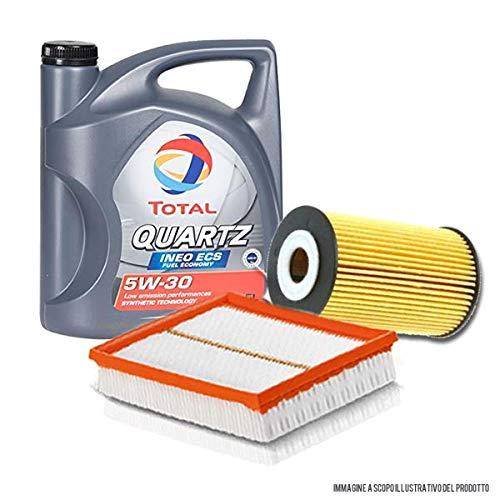 2parts Olio Motore per Auto Total Quartz INEO ECS 5W30 5 Litri, con Filtro Olio e Filtro Aria (529E/1109CK)