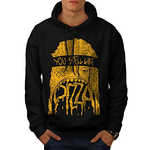 zombie-pizza-monster-fast-food-men-new-black-m-hoodie-wellcoda