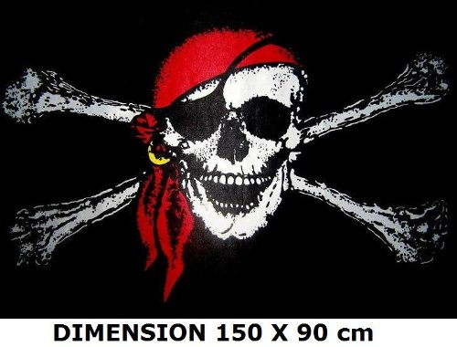 *** PROMOTION *** Drapeau Pirate (bandana) - 150 x 90 cm